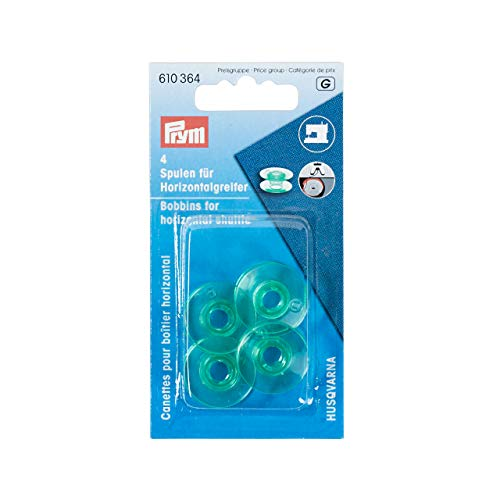Prym 610364 naaimachine spoelen, horizontale grijper, 21,6 mm, transparant, 19 mm