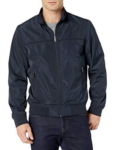 Dockers Men's Classic Stand Collar Bomber Jacket, Navy, Medium