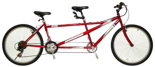 Pacific Dualie Tandem Bike (26-Inch Wheels, Red)