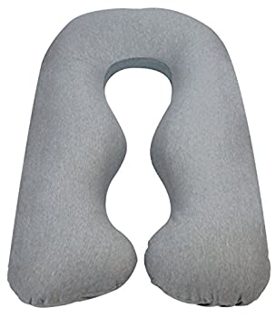 Leachco Back N Belly Chic Body Pillow Replacement Cover  Gray