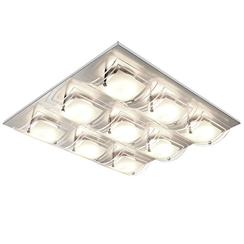 Luxus LED Decken Leuchte Glas Schirm Schlaf Gäste Zimmer Lampe satiniert gebogen Esto 740005-9