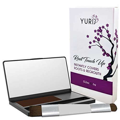 Premium Root Touch Up - Temporary Instant Root Concealer for Extending Time Between Coloring - Cover Up Grays and Roots with Color and no Spray - Lasts Until You Shampoo - Brown