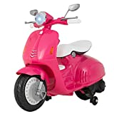 Uenjoy Kids Ride On Motorcycle 12V Electric Battery Powered Motorbike for Girls, Detachable Training Wheels, Music, Headlight, Pink