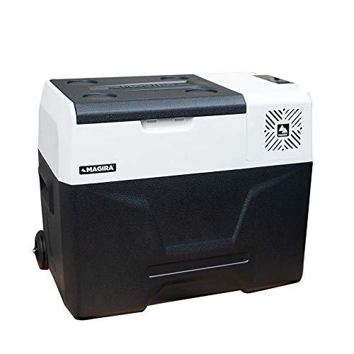 MAGIRA Alaska 40 Liter Kompressor-Kühlbox 12V und 230V MF40-C elektrischer Mini-Kühlschrank für Camping, Auto oder LKW mit Steckdose und USB-Anschluss