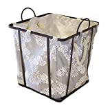 Canasta de almacenamiento multifuncional para el h Hierro forjado cesta de almacenamiento de ropa lavable diversos artículos de almacenamiento de juguetes canasta también se puede utilizar como artesa