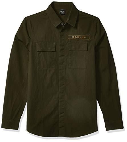 Oakley Herren ICON Cargo Shirt Button Down Hemd, Dunkler Pinsel, Klein
