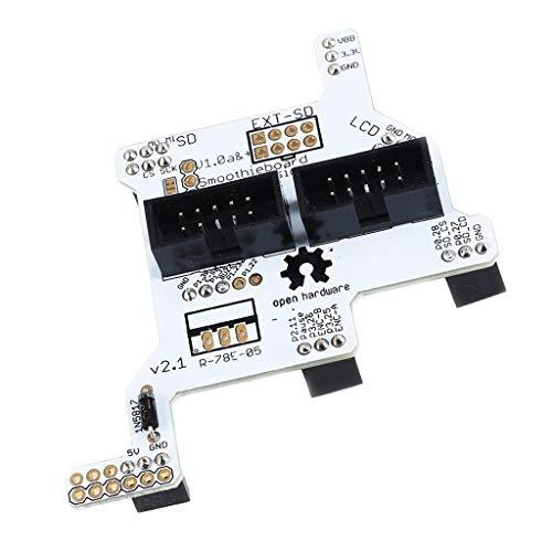 MagiDeal Adaptador de Pantalla LCD para Impresora 3D Smoothieboard 5X V1.1