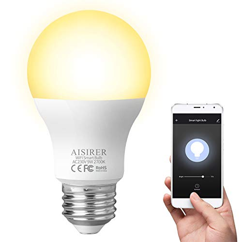 AISIRER Bombilla Inteligente Bombillas LED WiFi 9W 806LM...