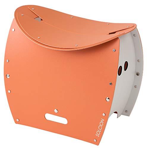 SOLCION 折りたたみチェア テラコッタ 折りたたみ式スツール&TOILET PATATTO350+ パタット350プラス 645089