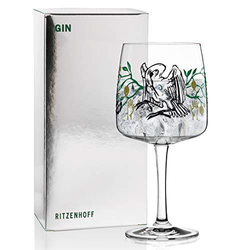 RITZENHOFF Gin Ginglas von Karin Rytter (Alchemist), aus Kristallglas, 700 ml, mit echtem Platin