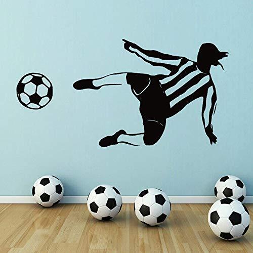 Tianpengyuanshuai Fußball Wandaufkleber Abnehmbarer Wandaufkleber 30X43cm