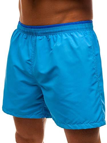 BOLF Pantaloncini Corti da Uomo Motivo Stampato Costume da Bagno Piscina da Spiaggia da Nuotare da Allenamento da Calcio Fitness Elasticizzati per Il Tempo Libero Y768 Azzurri Chiari XXL [7G7]