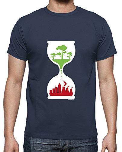 tostadora - T-Shirt Orologio Ecologico - Uomo Denim S