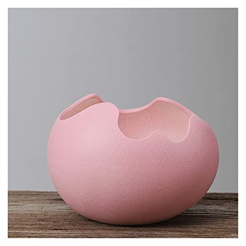 yywl Maceteros Eggshell Forma Flowerpot Cerámica Suculenta Plantas Pote Contenedor Plantadores Creativos Bonsai Pots Jardín Decoración de Escritorio para el hogar