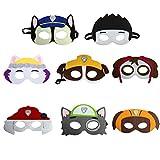 Máscara de patrulla canina Mallalah de juguete para cachorro, 8 piezas de dibujos...