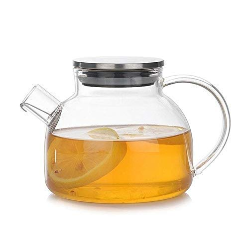 Teapot, 500Ml Large Capacity Transparent Kungfu Glass Teapot High Borosilicate High Temperature Resistant Art Tea Cup Set With Infuser