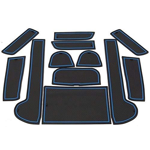 FLY MEN Türschlitz verrückt 3D-Anti-Rutsch-Gummimatte Innenschalen-Auflage-Tür-Groove-Matten-Auto-Telefon-Halter for Subaru Outback 2010 2011 2012 2013 2014 Zubehör (Color : Black Red)