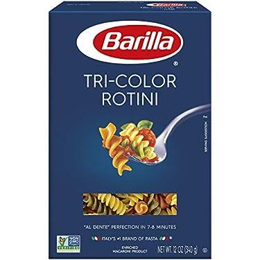 Barilla Tri-Color Pasta, Rotini, 12 Ounce