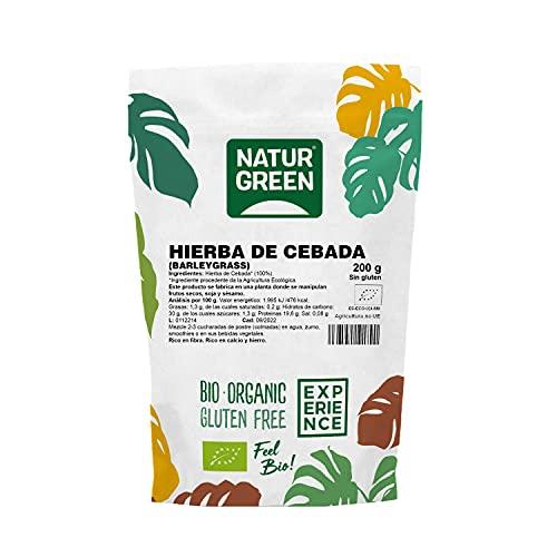 NaturGreen - Hierba de Cebada, BarleyGrass, Jugo de Cebada en Polvo, Ecológico, Omega 3 y Omega 6, 100% Vegano - 150 g