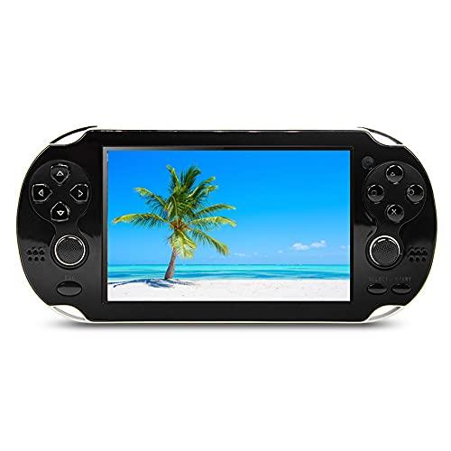 CZT Consola de Videojuegos portátil de 4.3 Pulgadas 8GB Consola de Videojuegos integrada en 2000 Juegos Soporte para Juegos de Arcade e altri 10 simulatori Games MP4 Player (Negro)