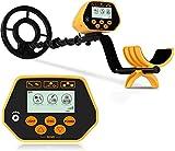 Metalldetektor,SAKOBS Hochpräziser Metalldetektoren LCD Display DISC-Modus einstellbare SENS Wasserdichte Metallsuchgerät Leicht für Erwachsene und Kinder