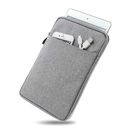 Wasserabweisende Tasche mit Kantenschutz für Samsung Galaxy Tab 3 7.0 in GRAU | Superweiches Inlay inkl. Zubehörfach und strapazierfähigem Reißverschluss [passend für Modell SM-T210, SM-T211]