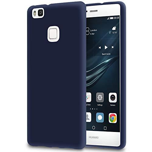 5.89 Funda Fina para Huawei P9 Lite | TPU | en Azul Marino Mate| Protección Puertos