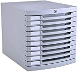 Archivo de gabinetes planos 10 cajones con cerradura de plástico gris claro archivo archivador gabinete 30 x 38 x 31,5 cm muebles de oficina hogar muebles de oficina hogar muebles de oficina