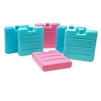 ToCi Lot de 6 mini pains de glace Bleu/rose/vert