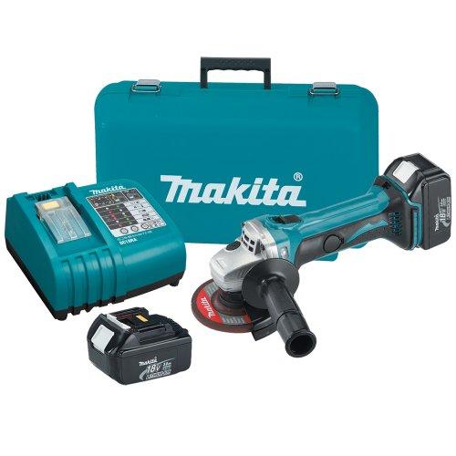 Makita BGA452 18-Volt LXT Lithium-Ion Cordless 4-1/2-Inch Cut-Off/Angle Grinder Kit -