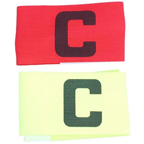 Ctzrzyt Elastico Brazalete de Capitan de Partido de Futbol Distintivo 2pzs Verde Amarillo Rojo