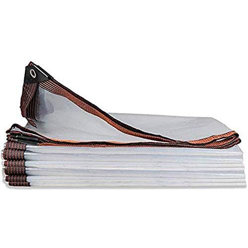 BWBG Lona Impermeable Transparente Exterior,3X6m Lonas Transparentes Invernadero Suave Y Duradero Protección...