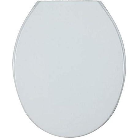 WENKO Abattant WC Aurora, lunette WC avec fixation plastique ajustable, Thermoplastique, 36.2 x 45 cm, Blanc