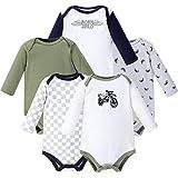 Hudson Baby Unisex Baby Cotton Long-sleeve Bodysuits, Dirt Bike, 3-6 Months US