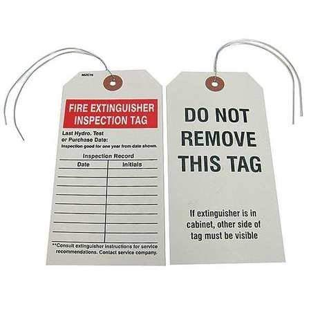 Fire Extinguisher Inspection Tag, PK25