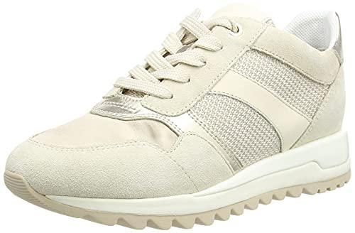 Geox D TABELYA A, Zapatillas Mujer, Beige 1122, 39 EU