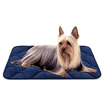 Panier Doux pour Chien, Lit Coussin de Luxe et Durable 70x50 cm, Tapis Antidérapant et Lavable de Chien Hero Dog (Bleu, Petite)