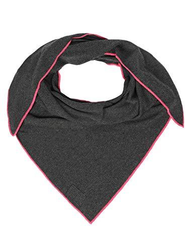 Cashmere Dreams Cashmere Dreams Dreieckstuch mit Kaschmir - Hochwertiger Schal im Uni Design für Damen Jungen und Mädchen - XXL Hals-Tuch und Damenschal - Strick-Waren für Sommer und Winter 150cm x 120cm ant