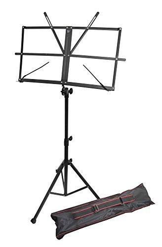 Windsor 050151-BK Adjustable Folding Sheet Music Stand with Carry Case Black