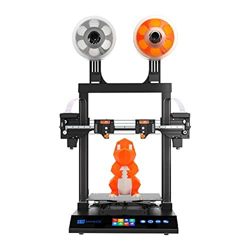 JG MAKER Large 3D Printer Artist-D Pro IDEX TMC2209 Silent Driver X Axis Linear Railway Optical Endstop 11.8x11.8x13.3in 98% Pre- Assemble ABS PLA TPU Flexible 1.75mm Filament