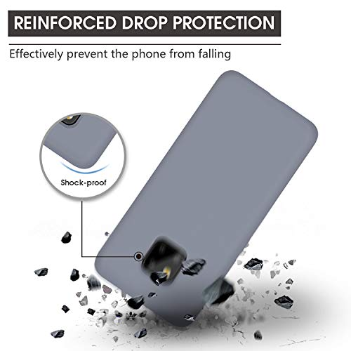 Huawei Mate 20 Pro Hülle Silikon, Abitku Dünn Licht Glatt Stoßfest Schutz Protective Handy Hülle für Huawei Mate 20 Pro (Lavender Gray) - 3