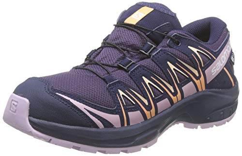 Salomon Kinder Sportschuhe, XA PRO 3D CSWP J, Farbe: lila (Sweet Grape/Evening Blue/Mauve Shadows), Größe: EU 34