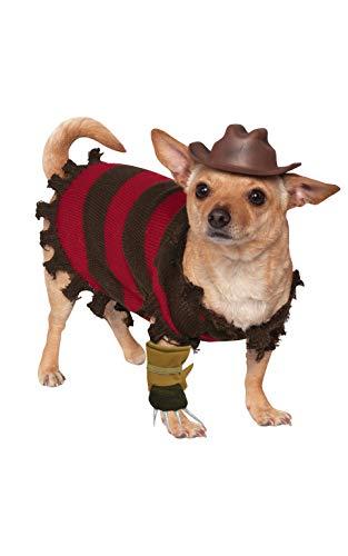 Official Rubie's A Nightmare on Elm Street, Freddy Krueger Halloween Pet Dog Costume