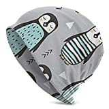 XCNGG Pingüinos con suéter Gorros Holgados geométricos con diseño de Calavera Delgada y Holgada para Mujer Hombre