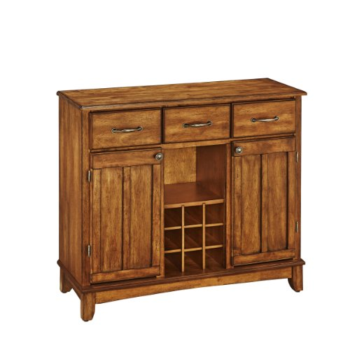 Buffet of Buffets Cottage Oak with Wood Top by Home Styles, Large Server with Cottage Oak Wood Top