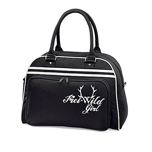 Frei.Wild - Retro Tasche mit Schaumdruck, schwarz, onesize