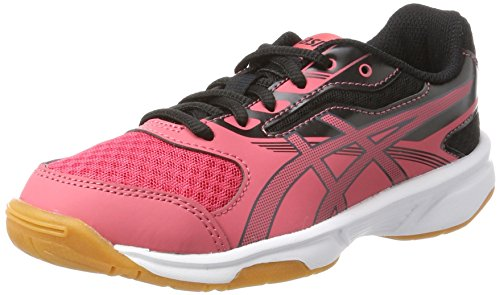 Asics Unisex-Kinder Upcourt 2 Gs Gymnastikschuhe, Rot (Rouge Red / Dark Grey / Black), 35.5 EU