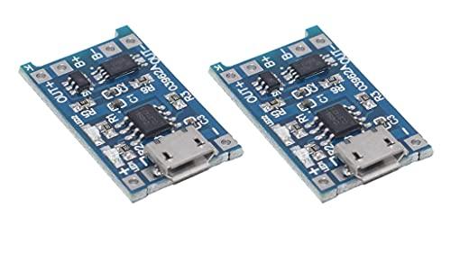 Mars Garden 2 pezzi Micro USB 5V 1A 18650 TP4056 4056