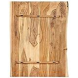 vidaXL Massivholz Tischplatte Baumkante Massivholzplatte Akazie 80x(50-60) x2,5cm - 2