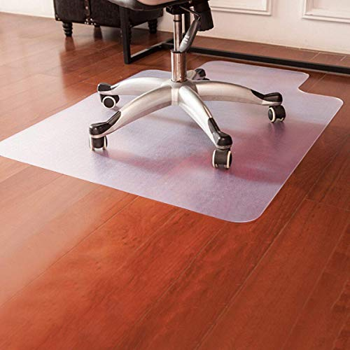 """Goplus PVC Chair Mat for Hardwood Floor Clear Multi-Purpose Floor Protector for Office and Home Anti-Slip Floor Protective Mats (48"""" x 36"""")"""